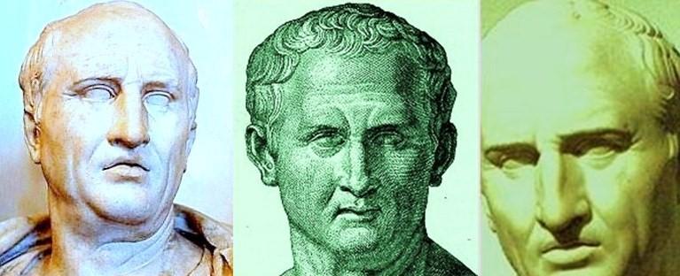 Der Rhetoriker Cicero, der die Loci-Methode nutzte